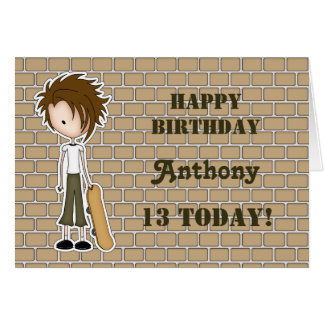 Emo boy greeting cards zazzle customizable emo skater boy birthday card bookmarktalkfo Images