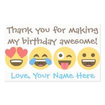 Customizable Emoji Thank You Stickers -Emoji faces