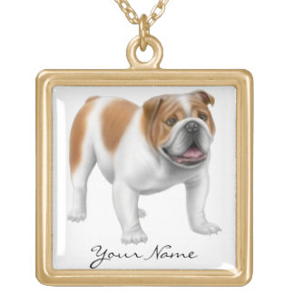 Customizable English Bulldog Necklace