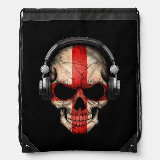 Customizable English Dj Skull with Headphones Backpacks
