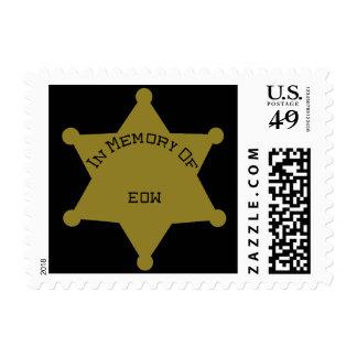 Customizable EOW Sheriff Deputy Postage Stamp