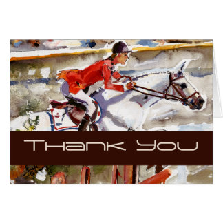 Customizable Equestrian THANK YOU Card by Ginette