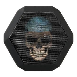 Customizable Estonian Flag Skull Black Boombot Rex Bluetooth Speaker