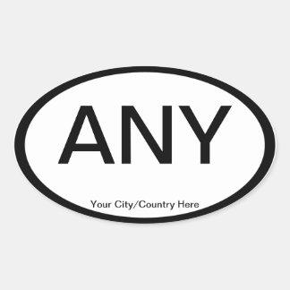 Customizable Euro Oval Auto Stickers