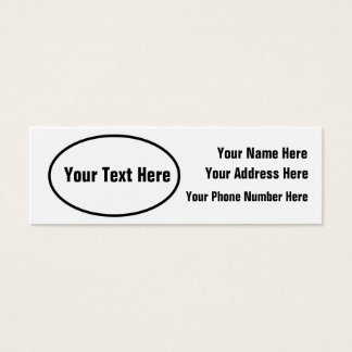 Customizable European Oval Profile Card