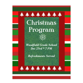 Customizable Event Christmas Program Flyer