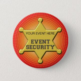 CUSTOMIZABLE EVENT SECURITY BADGE BUTTON