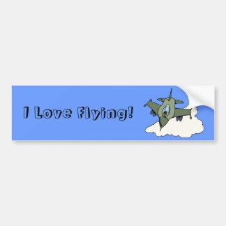 Customizable F16 Fighting Falcon Design Bumper Sticker