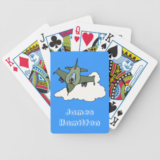 Customizable F16 Fighting Falcon Design Playing Cards