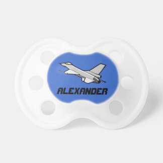 Customizable F16 Fighting Falcon Fighter Jet BooginHead Pacifier
