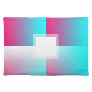 Customizable Fade: Cyan Cloth Placemat
