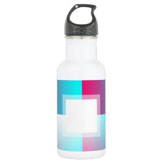 Customizable Fade: Cyan Stainless Steel Water Bottle