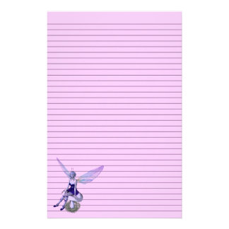 Customizable Fairy Stationery - optional lines