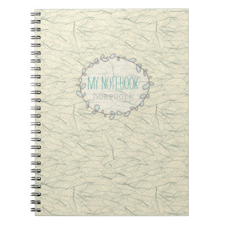 Customizable Fall Leaves Wreath Notebook