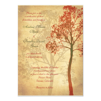 Customizable Fall Tree Wedding Invitation