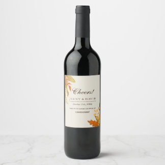 Customizable Fall Wedding Wine Labels