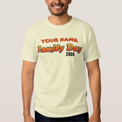 Customizable Family Day T-Shirt