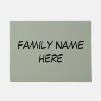customizable family name door mat doormat