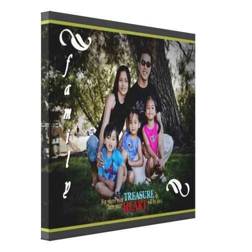 Customizable Family Photo Canvas Wall Art Gallery Wrapped Canvas