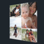 "Customizable Family Photo Collage Canvas Print<br><div class=""desc"">Create a beautiful canvas print with 4 of your favorite family photos! Great keepsake for family and friends!</div>"