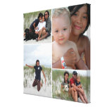 Customizable Family Photo Collage Canvas Print<br><div class='desc'>Create a beautiful canvas print with 4 of your favorite family photos! Great keepsake for family and friends!</div>