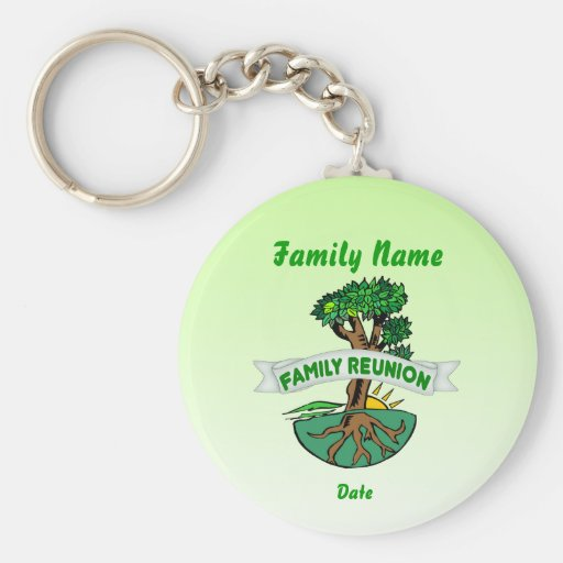 Customizable Family Reunion Basic Round Button Keychain