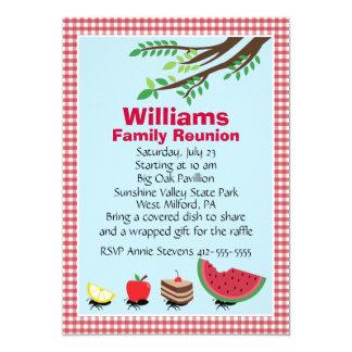 Customizable Family Reunion Picnic 5x7 Paper Invitation Card