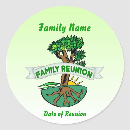 Customizable Family Reunion Stickers