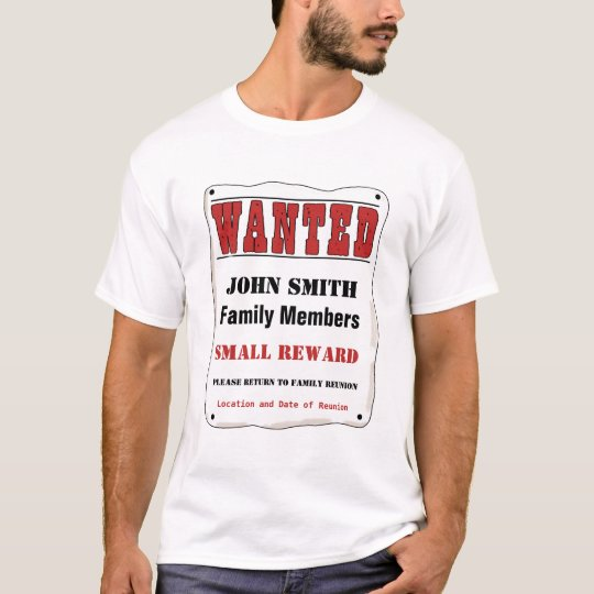 Customizable Family Reunion T Shirt