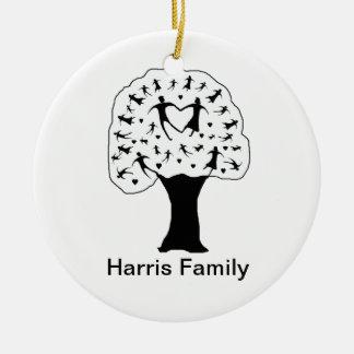 Customizable Family Tree (Black & White) Ornament