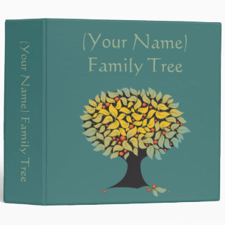 Customizable Family Tree Blue Binder