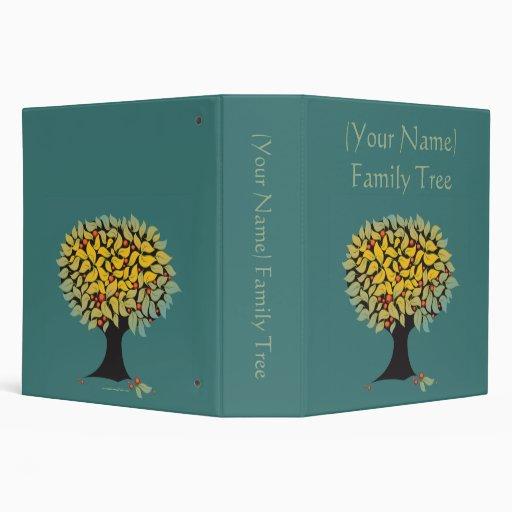 Customizable Family Tree Blue Binder