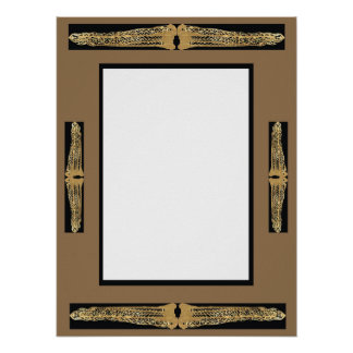 Customizable Fancy Ornate Frame Rectangle Poster 3