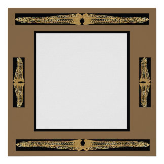 Customizable Fancy Ornate Frame Square Poster