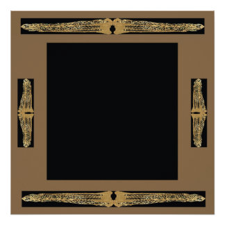 Customizable Fancy Ornate Frame Square Poster 2