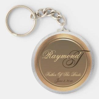 Customizable Father Of The Bride Keepsake Keychain