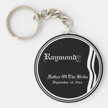 Customizable Father Of The Bride Keepsake Keychain by 4westies at Zazzle