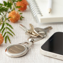 Customizable Father of the Bride Oval Keychain