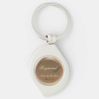 Customizable Father of the Bride Swirl Keychain
