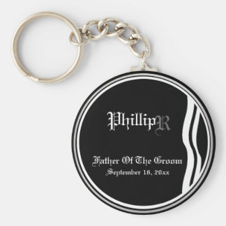 Customizable Father Of The Groom Keepsake Keychain