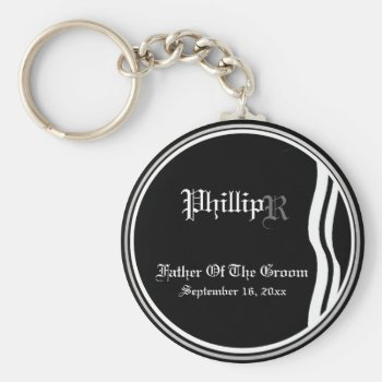 Customizable Father Of The Groom Keepsake Keychain by 4westies at Zazzle