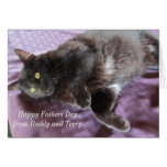 Customizable Father's Day Card with Cat