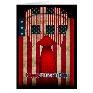 Customizable Father's Day Shirt And Tie Card