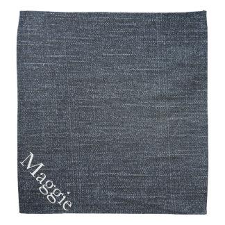 Customizable Faux Denim Blue Jean Material Bandana