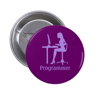 Customizable Female Silhouette Programmer Button