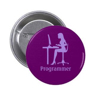 Customizable Female Silhouette Programmer Button