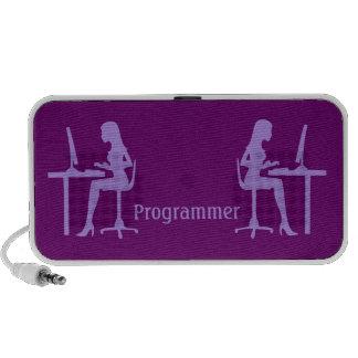 Customizable Female Silhouette Programmer iPhone Speaker