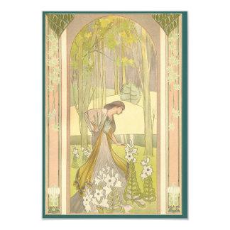 Customizable Feminine Art Deco Invitation