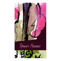 customizable, profile cards, business cards, artful, artsy, unique, art cards, watercolors, artist, photographer, advertising, professionals, colorful, designs, ginette, fine art, artistic, graphics, retail, fashion, modern, contemporary, ooak, edgy, grunge, black, ink, tattoo, pink, feminine, art, Business Card with custom graphic design
