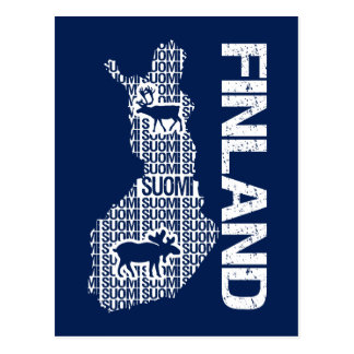 Customizable FINLAND MAP postcard